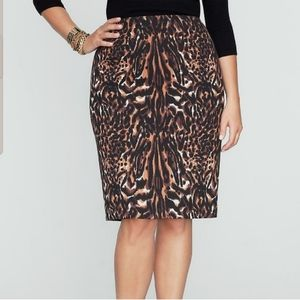 Talbots NWT Animal Print Pencil Skirt